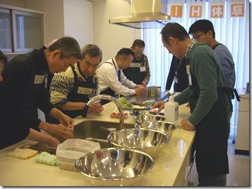 料理講習作業中