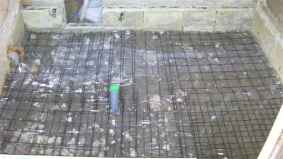 お風呂の基礎工事