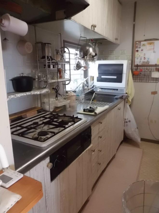 リフォーム前のキッチンの様子