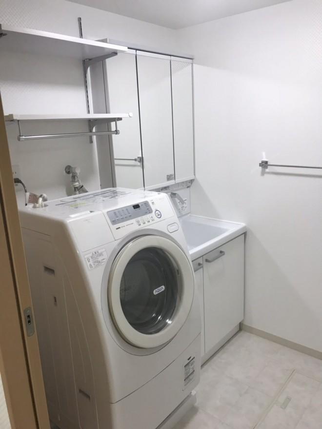 新しく設置した洗面台